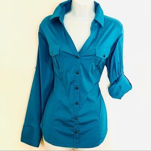 Express Portofino Fitted Shirt, Size Large